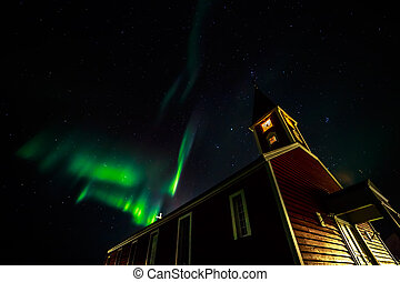 Northern lights in Greenland - Greenland northern lights,...