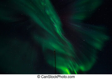 Greenlandic Northern lights, nearby Nuuk, October 2015