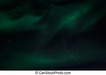 Greenlandic Northern lights with a Red Moon - Greenlandic...