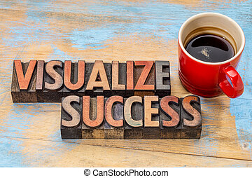 visualize success in wood type - visualize success banner -...