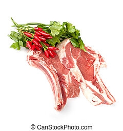 Florentine Steaks With Chili Pepper And Parsley - Raw...
