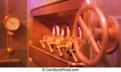 Old vintage German brewery - Shooting of numerous knobs,...
