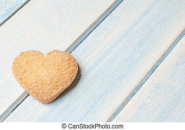 Heart-shaped butter cookies. - Heart-shaped butter cookie....