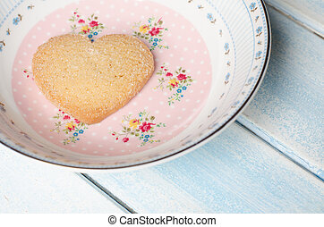 Heart-shaped butter cookies. - Heart-shaped butter cookie....
