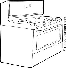 Generic Single Induction Stove Outline - Outine sketch of...