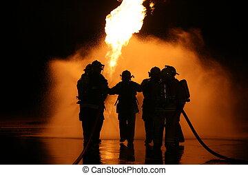 LP Gas Fire - LP Gas fire training burn