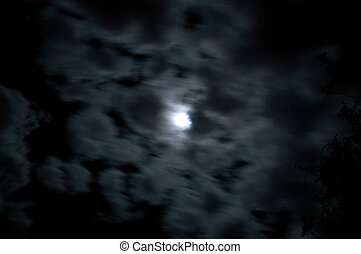 blurred clouds move across full moon - A 30 second exposure...