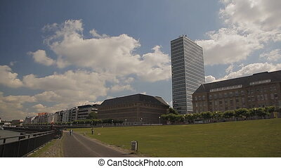 Promenade in Europe on a clear day - The promenade in...