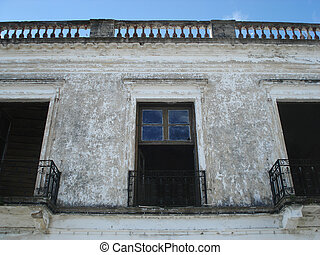 colonial architecture - house facade in uruguay