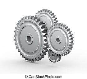 3d cogwheel gears