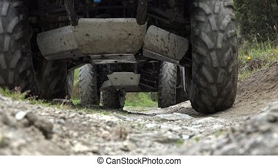 ATVs Driving Over Camera