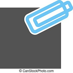 Attachment, business, web icon vector image Can also be used...