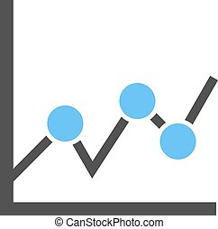 Statistical Graph - Graph, chart, business icon vector image...
