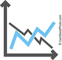 Frequency Graphs - Frequency, bar, graph icon vector image....
