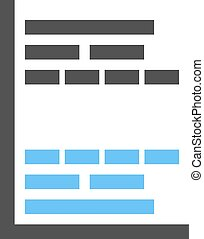 Gantt Chart - Gantt, project, chart icon vector image. Can...