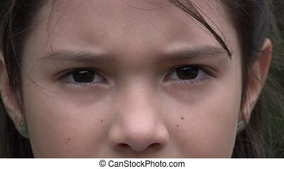 Eyes of Young Female Child