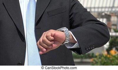 Closeup of Man's Wristwatch