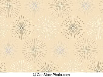 Dotted line spherical geometric seamless pattern. Endless...