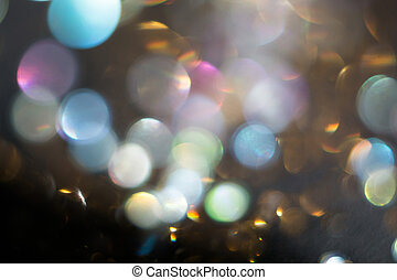 Shimmering Bokeh Lights - Abstract defocused background with...