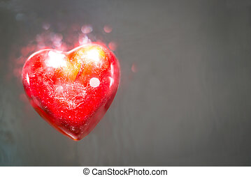 Exploding heart - A heart that explode of love. It looks...