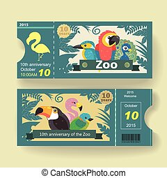 10th anniversary ticket design template for zoo