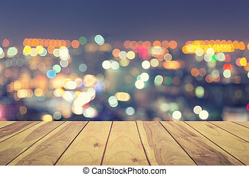 Bokeh pattaya city - Bokeh of pattaya city at night.