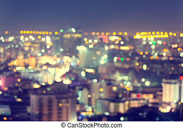 Bokeh pattaya night - Bokeh of pattaya city at night.