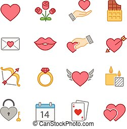 Valentines full color icons