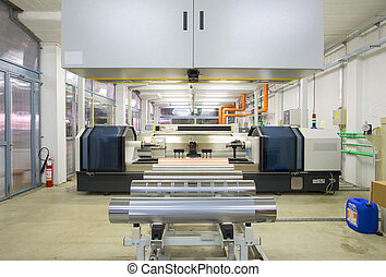 Flexo-printing - Equipment in a factory for flexo-printing...