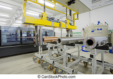 Flexo-printing - Equipment in a factory for flexo-printing....
