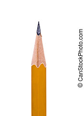 Lead pencil - Close up of a sharp yellow pencil