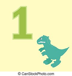 Number one. One dinosaur.