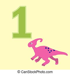 Number one. One dinosaur (Sauroloph ).