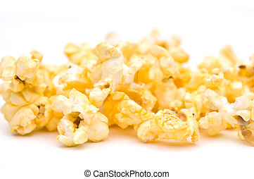 shallow focus closeup of popcorn