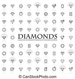 Diamonds, a large set of different versions of the diamond...