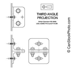 Third Angle Orthographic Projection - Example of third angle...