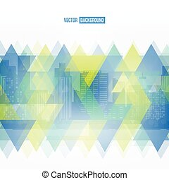 Vector modern city Stained-glass window Cityscape background...