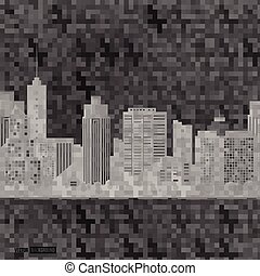 Vector modern city. Cityscape background for your design,...