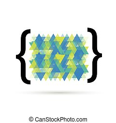 Quote text bubbles. Vector abstract color box.