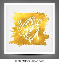 Golden banner happy Valentine day. 10 eps