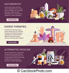 Alternative Medicine Banners - Horizontal banners showing...