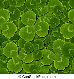 leaves clover shamrock seamless pattern - leaves clover...