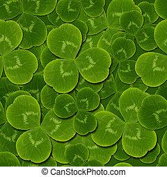 leaves clover shamrock seamless pattern - leaves clover...