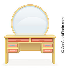 vanity table modern furniture illustration vector...