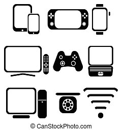 Technology 2 - Technology icons set with tablet, mobile...