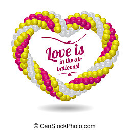 Heart made from balloons for the wedding ceremony.