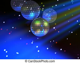 Disco party lights - Disco party background with colorful...