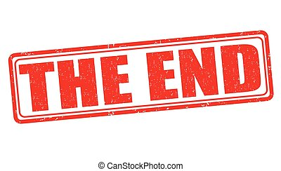 The end stamp - The end grunge rubber stamp on white...