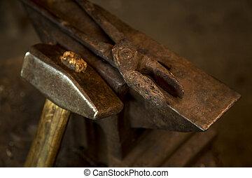 martillo, y, Yunque,