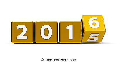 Gold cubes 2016 2 - Gold cubes with 2015-2016 change on a...